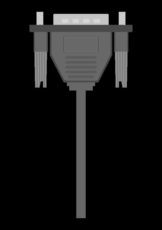 VGAケーブルのイラスト