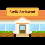 ファミリーレストランのイラスト