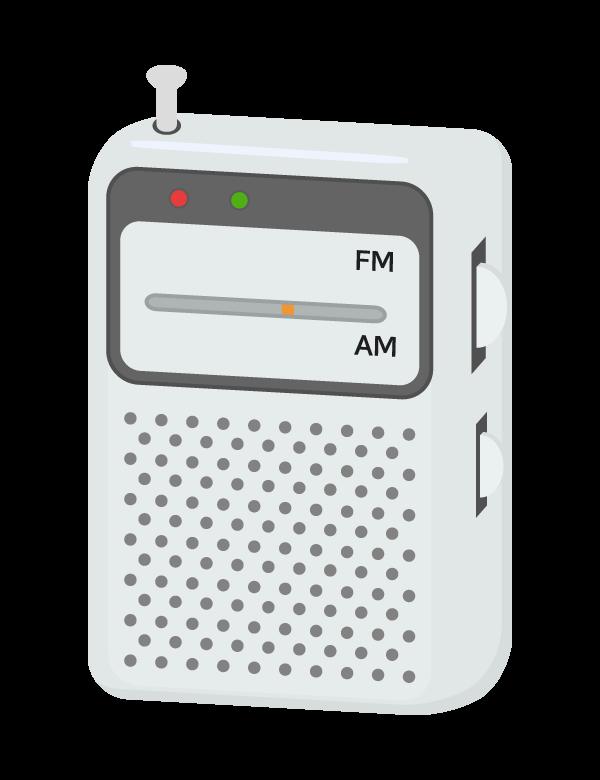 携帯ラジオのイラスト
