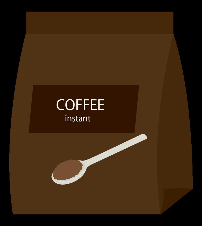 パックに入ったインスタントコーヒーのイラスト