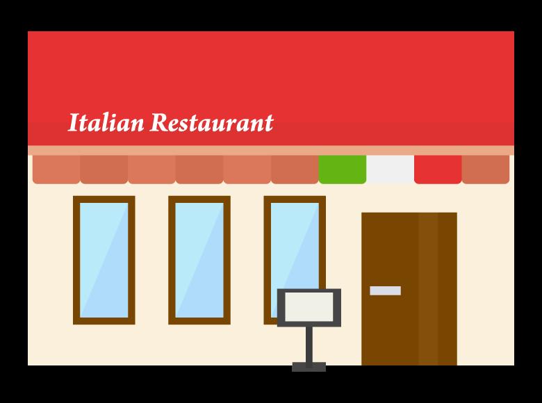 イタリアンレストランのイラスト