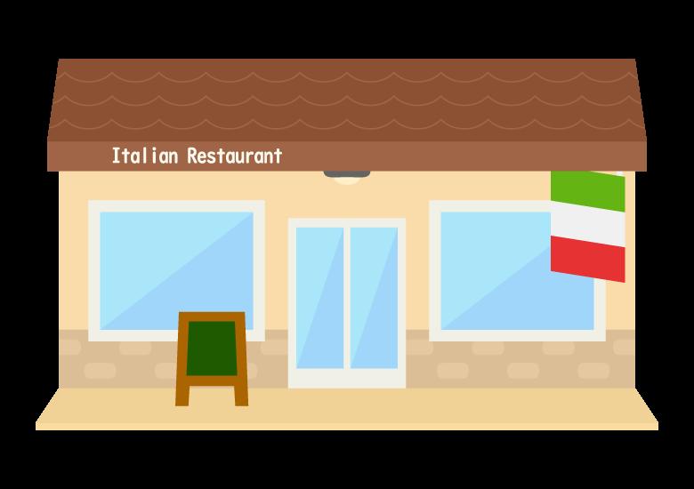 イタリアンレストランのイラスト02