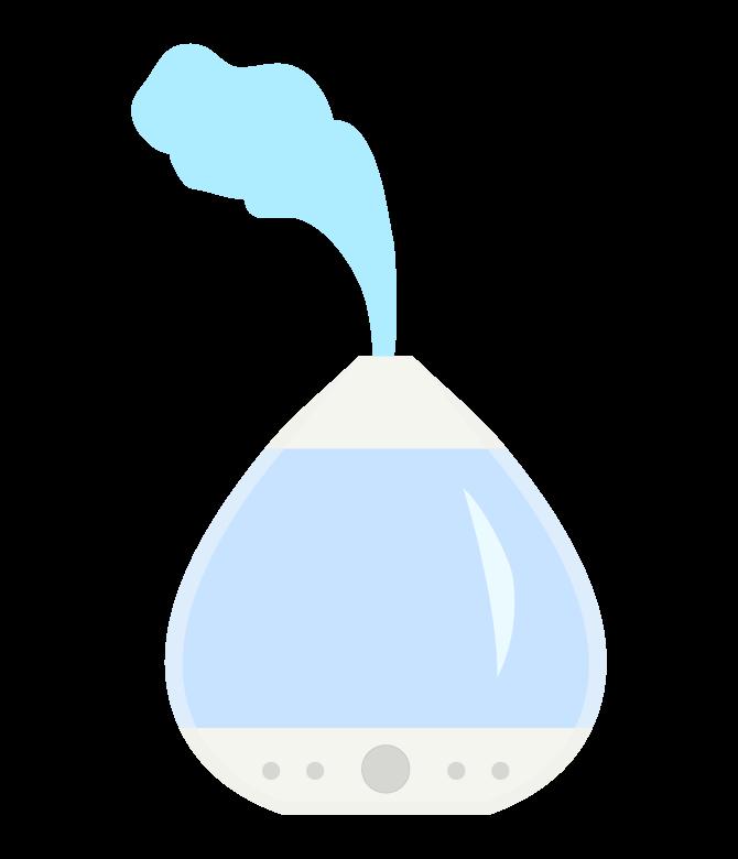 おしゃれな加湿器のイラスト