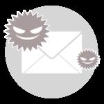メールからのウイルスのイメージイラスト