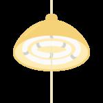 丸型蛍光灯の天井照明のイラスト