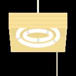 和風の天井照明のイラスト