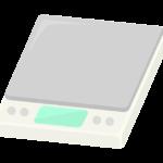 デジタルの計量器のイラスト