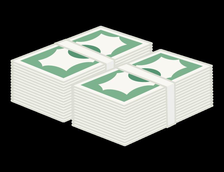 お金・札束のイラスト