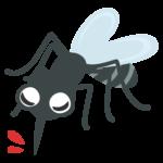 虫刺され・かわいい蚊のイラスト