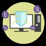PCのアンチウイルスのイメージイラスト