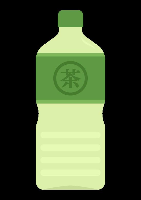 ペットボトルの緑茶(2L)のイラスト