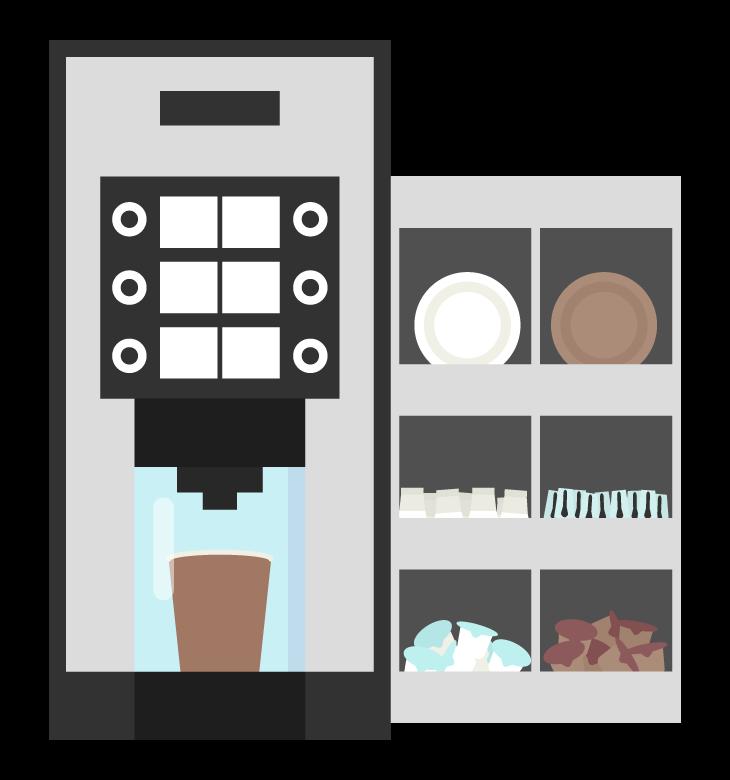 業務用のコーヒーメーカーのイラスト