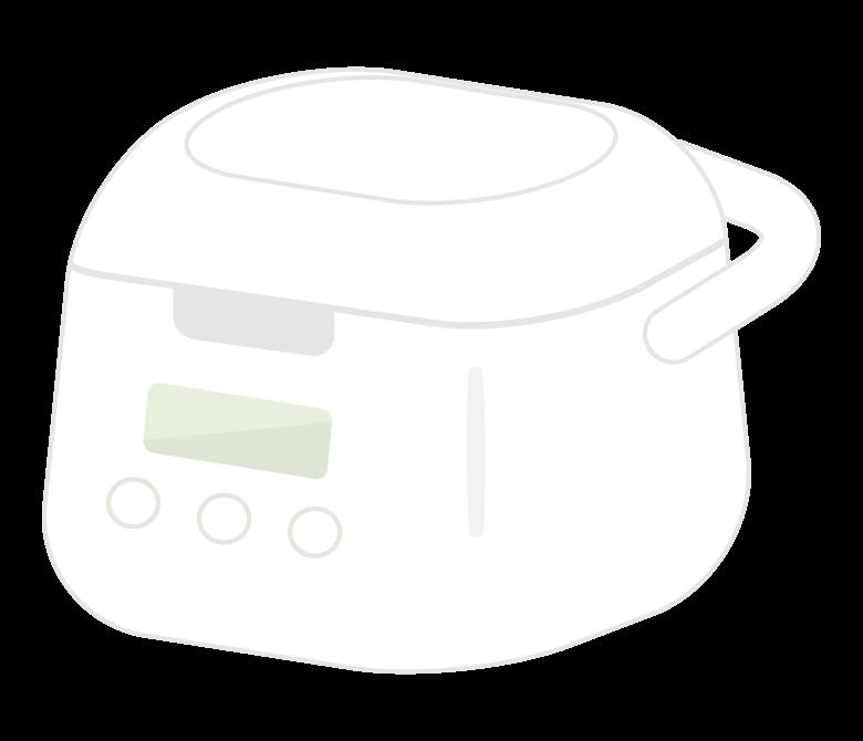 小型の炊飯器のイラスト