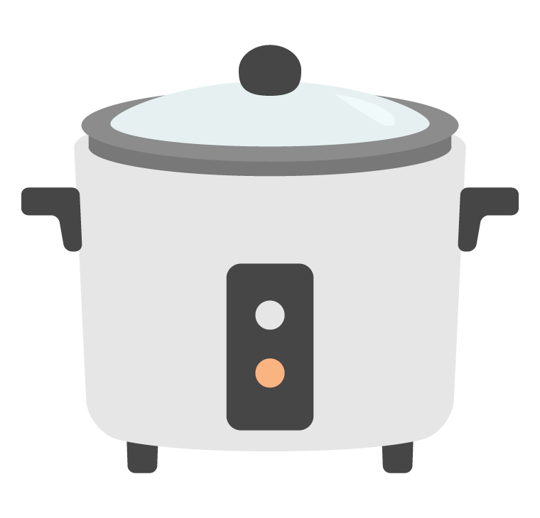 一合炊き炊飯器のイラスト