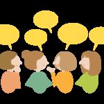 おしゃべり・会話(女性)のイラスト