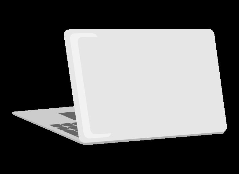 薄型ノートパソコンのイラスト