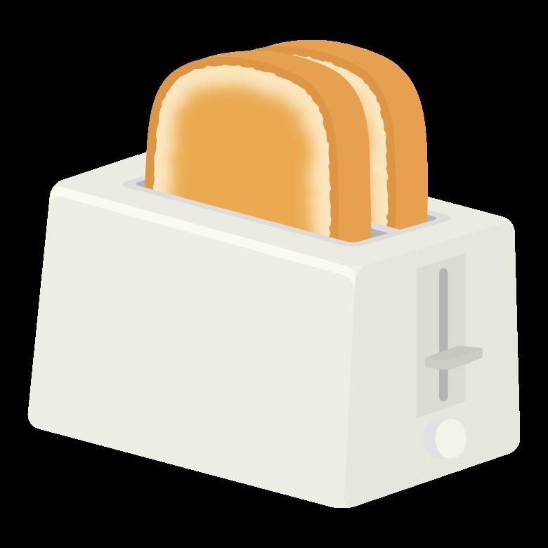 ポップアップトースターのイラスト
