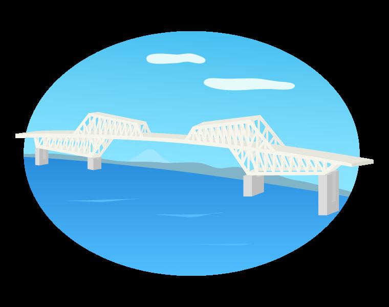 東京ゲートブリッジのイラスト