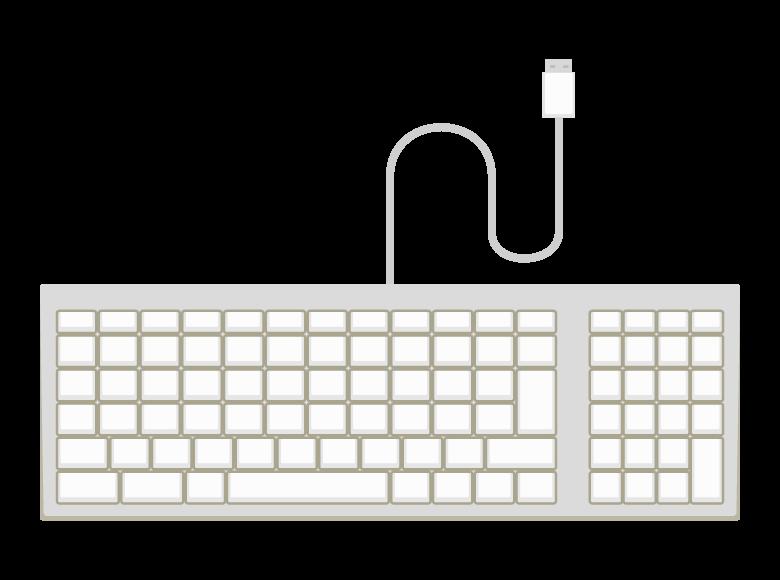 USBのPCキーボードのイラスト