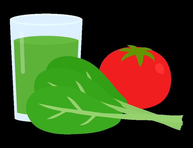 青菜とトマトのスムージーのイラスト
