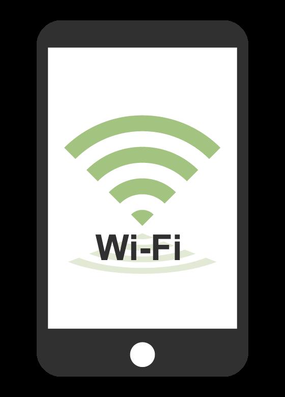 スマホとWi-Fiのイラスト