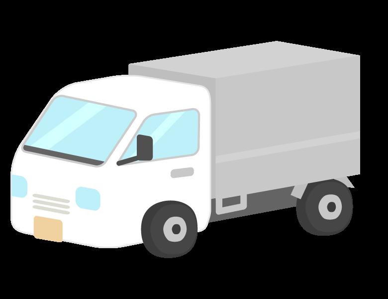 荷台付きの軽トラックのイラスト