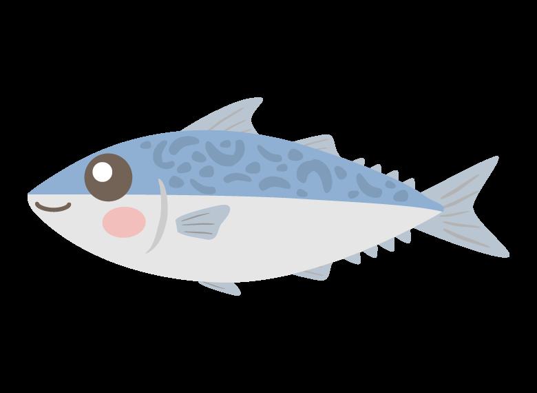かわいいサバ(鯖)のイラスト