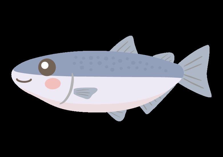 かわいい鮭のイラスト