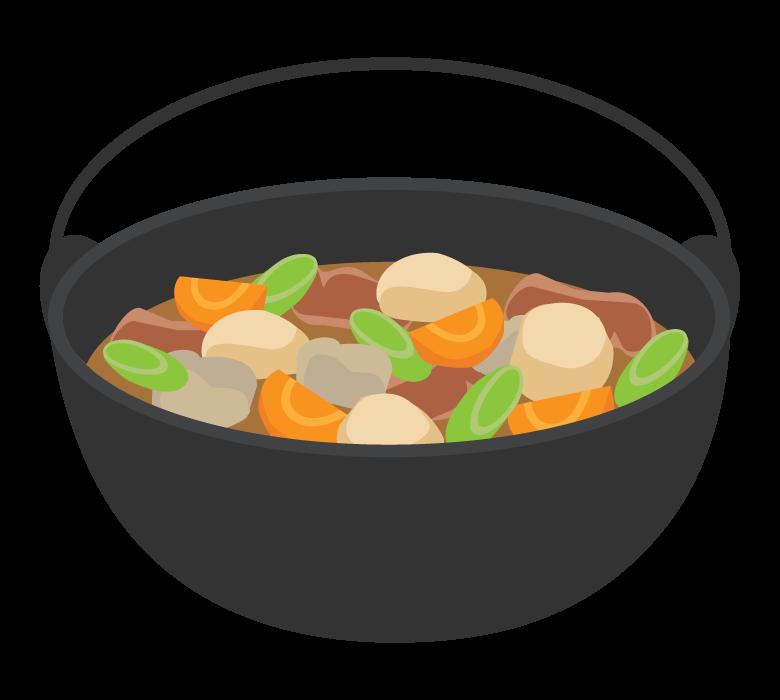 芋煮のイラスト