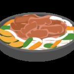 ジンギスカン料理のイラスト