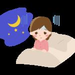 睡眠障害・不眠症の女性のイラスト