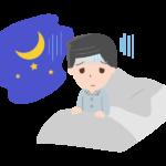 睡眠障害・不眠症の男性のイラスト