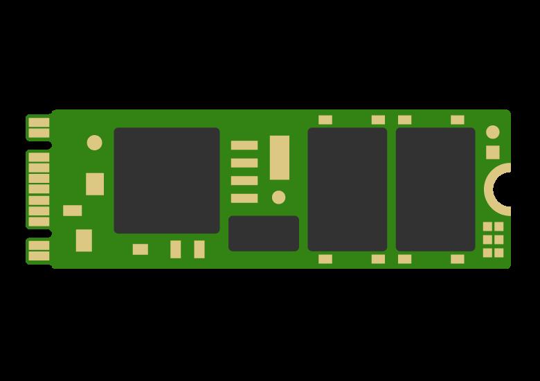 M.2(エムドットツー)SSD・B&M-Keyのイラスト