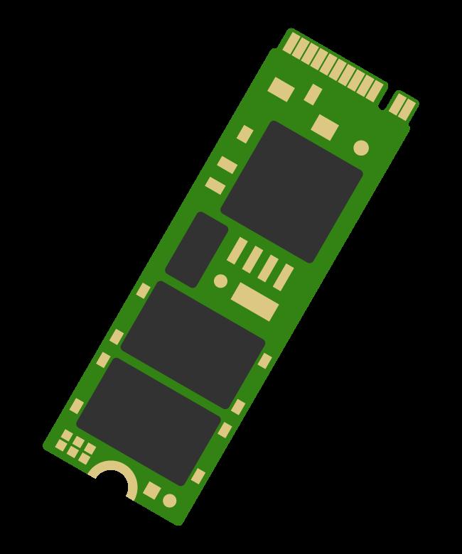 M.2(エムドットツー)SSD・M Keyのイラスト