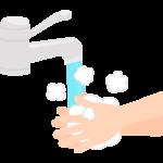 水道で手洗いのイラスト