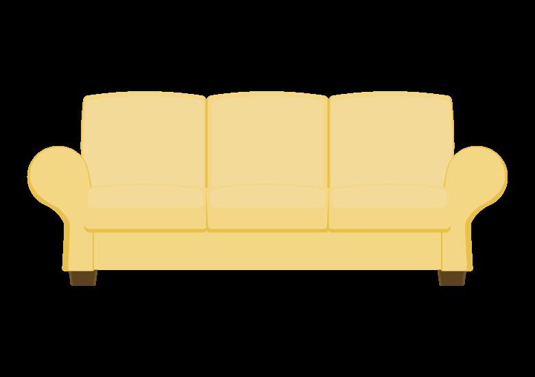 三人掛けのソファーのイラスト