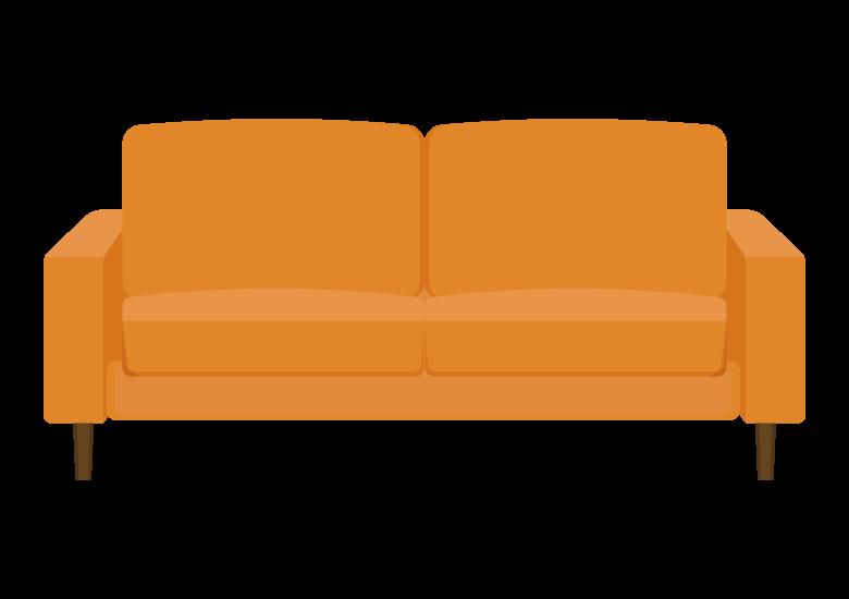 二人掛けのソファーのイラスト