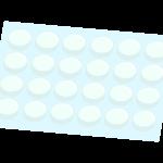 気泡緩衝材のイラスト