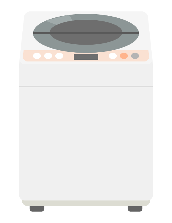 洗濯機(正面)のイラスト