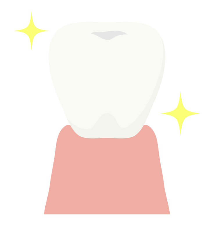 ホワイトニングした歯のイラスト