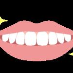 ホワイトニングしてピカピカの歯のイラスト