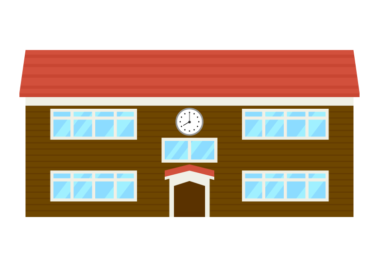 木造校舎のイラスト