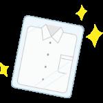 クリーニングしたYシャツのイラスト