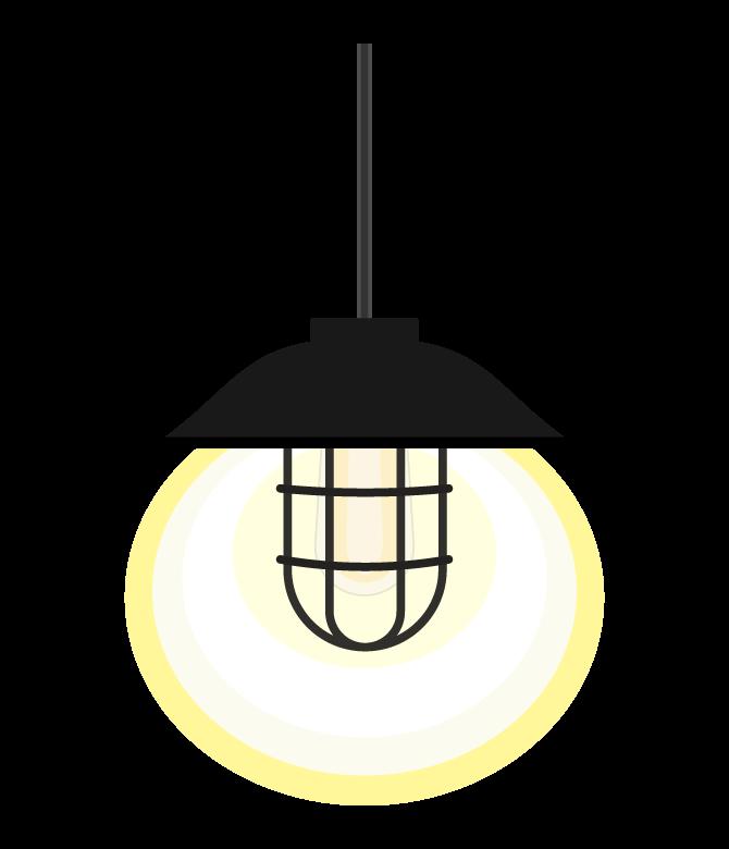 アンティークなデザインの天井照明のイラスト
