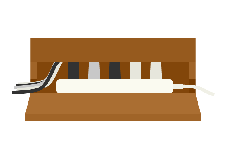 ケーブル・配線ボックスのイラスト