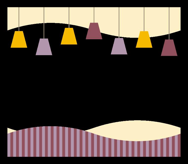 天井照明のフレーム・飾り枠イラスト