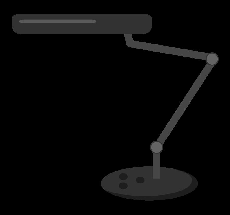 黒いスタンドライトのイラスト