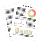 資料/書類/グラフレポートのイラスト