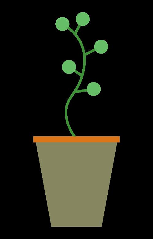 かわいい観葉植物のイラスト