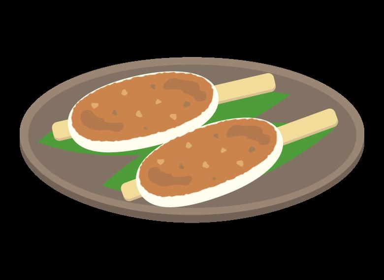 五平餅のイラスト